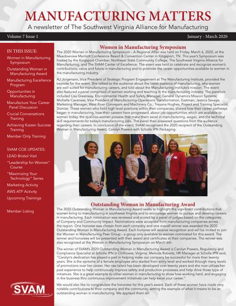 SVAM Quarterly Newsletter V 7 Iss 1